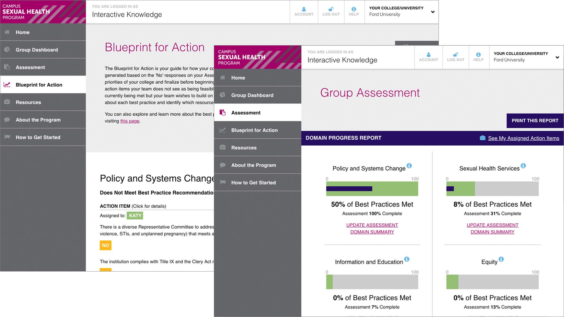 Campus Sexual Health Survey example