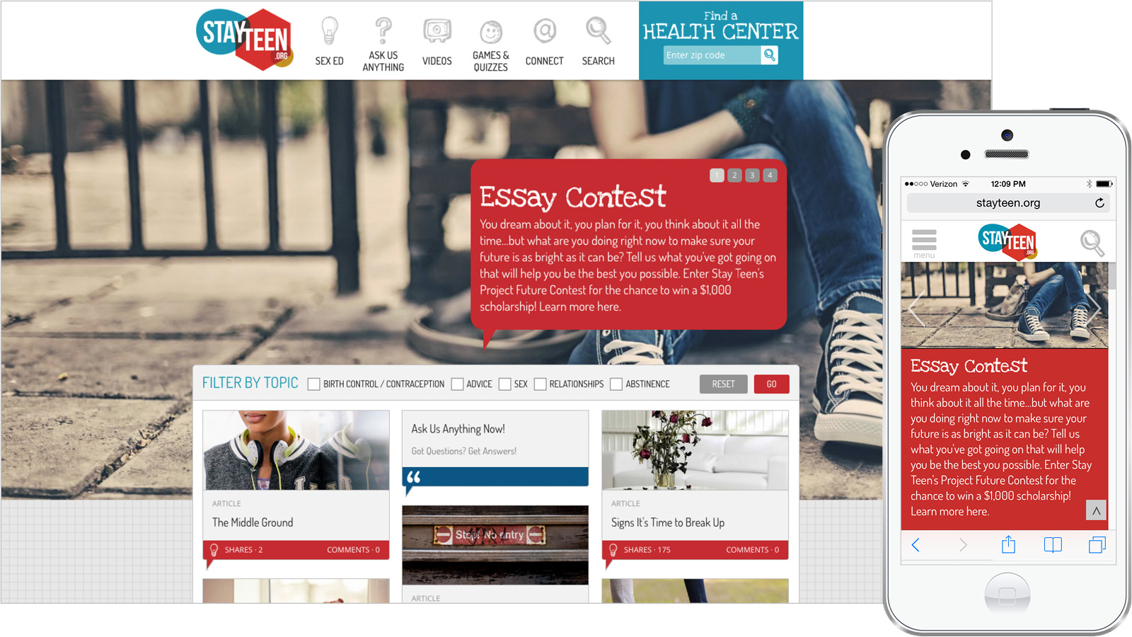 Stayteen.org Interactive Knowledge